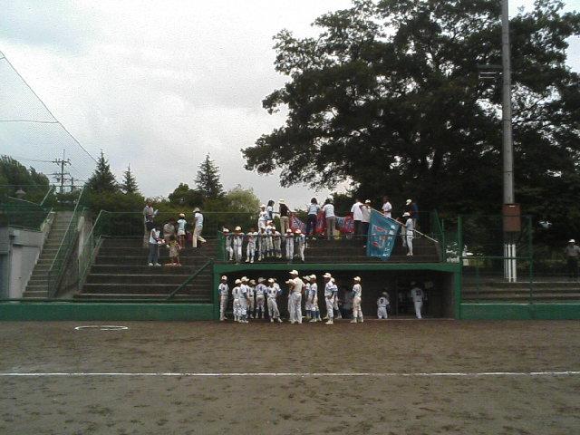 8月19日の亀岡運動公園野球場